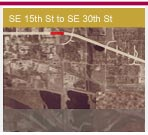 Opens a 1.5Mb PDF map - Southeast 15th St to Southeast 30th St
