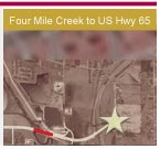 Opens a 1.5Mb PDF map - Four Mile Creek to US Highway 65